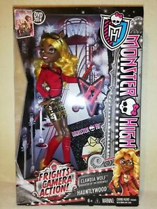 Monster High Clawdia Wolf Frights Camera Action 2013 BNIB. BIG SISTER STYLE!