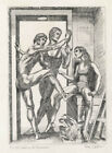 Paul Camus - Waiting for Rehearsal - Signed and Numbered Original Engraving