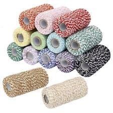 Various 100m 2Ply Cotton Bakers Twine String Cord Country Craft Shabby Chic Deco