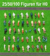 Modelleisenbahn Figuren Reisende 1:87 H0 Figuren bemalt gemischt HO Figures Neu