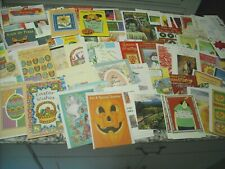 Lot of 152 Assorted Greeting Cards Easter Valentines Halloween Christmas New