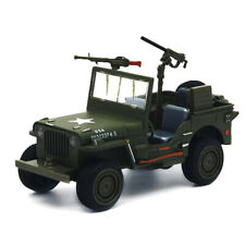 1:24 Willys WWII Jeep Off-road Military Vehicle Model Car Diecast Toy Kids Gift