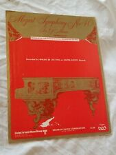 MOZART'S SYMPHONY NO 40 IN G MINOR Sheet Music Vintage 1971 Classical Song