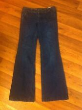 '11 Mossimo *Fit 3* Women's 4 DK Blue Low Stretch 4 Pkt Trouser Flare Jeans