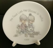 Enesco 1988 Precious Moments Porcelain Bisque Plate With Easel