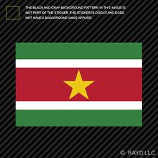 "4"" Surinamese Flag Sticker Decal Self Adhesive Vinyl Suriname SUR SR"