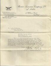1928 Phoenix Assurance Company Ltd Of London New York Original Letterhead
