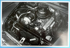 """12 By 18"""" Black & White Picture 1955 Chevrolet Under The Hood Air Condition"""