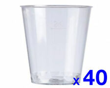 Plastic 3CL Clear Disposable Cup x 40 Glasses Party Festival Samples Promotion