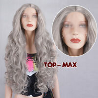 Gray Hot Sale Curly 70CM 28 Inches Lace Front Hair Heat Resistant Wig