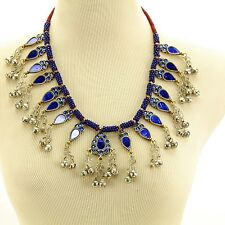 Belly Dance Bellydance Kuchi Tribal Shiney NECKLACE 810a4