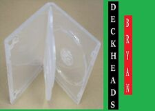 DVD COVER/CASES CLEAR SINGLE HOLDS 3 DISC - 14MM