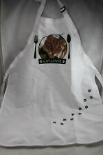 Cat Lover's Apron White and Green Paws Adjustable LittleGifts