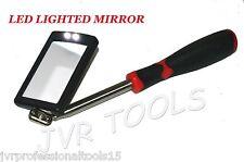 "LED Lighted Inspection Mirror Telescoping illuminate 1-1/2"" x 2-1/2"" Mirror NEW"