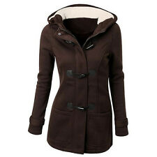 Autumn/Winter Warm Womens Casual Hooded Jacket Duffle Toggle Coat Outwear S-3XL