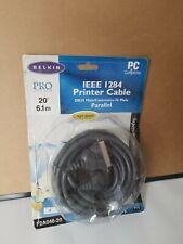 BELKIN F2A046-20 PARALLEL PRINTER CABLE DB25M/CEN-36M 20 FT PROS SERIES NIB p76