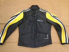 "CORNER Mens Leather Motorbike Motorcycle Jacket Size UK 34"" to  36"" Chest    H48"