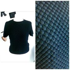 Topshop sexy textured 3D top blouse black size 10