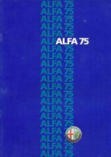 CATALOGUE VOITURE PUB. AUTO AD.ALFA ROMEO 75 1988 EN NEERLANDAIS