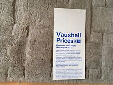 VAUXHALL RANGE PRICE LIST 1972.     Includes FIRENZA