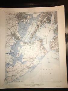 1913 USGS topographic map Staten Island Brooklyn Manhatan Jersey City Bayonne