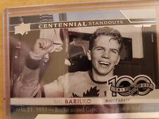 2017-18 Upper Deck Series One CENTENNIAL STANDOUTS Bill Barilko Maple Leafs