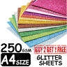Pack of 50 Sheets Zero Shed A4 Size Glitter Card Assorted Colours Self Adhesive
