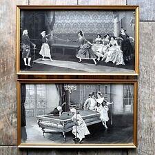 Pair of Framed Neyret Freres Silk Woven Pictures / Stevengraph