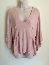 New Free People Women's Dolman Sleeve Blouse Size Small Pink NWT