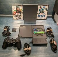 Sony PlayStation 2 PS2 Slim Console + 3 Games & Controller SCPH-79001 Silver