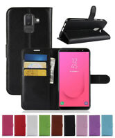 For Samsung Galaxy J8 2018 PU Leather slot wallet stand flip Cover Skin Case