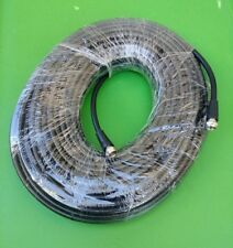 (100 FT) RG59 Coaxial Digital Cable for Satellite TV VCR Video - (Black)