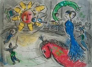 MARC CHAGALL (After) - 'Soleil au Cheval Rouge' - Lithograph - France - C.1979