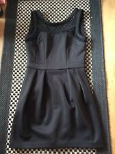 BNWT Sexy Black Mesh Edged Dress WAREHOUSE UK 10 RRP £55 SOLD OUT