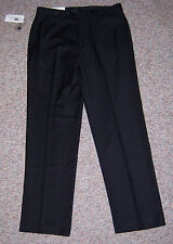 CALVIN KLEIN Black Flat Front Dylan Tailored Fit Taper Leg Dress Pants 33 x 32
