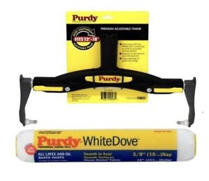 """Purdy@ Adjustable Paint Roller Frame 12"""" - 18"""" + 12"""" White Dove - Fast Dispatch"""