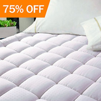 100 Organic Cotton Quilted Fitted Mattress Pad Cover