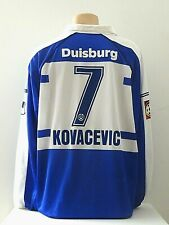 MSV Duisburg Trikot Gr. XL Kovacevic Uhlsport Langarm Blau / Weiß
