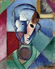 FRAMED CANVAS Art print giclee jean metzinger tete cubiste head cubist