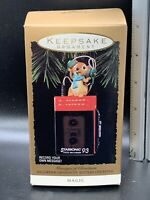 "1993 Hallmark Mouse Christmas Tree Ornament ""Messages of Christmas"" MAGIC"