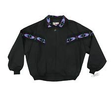 NOS Vintage 90s Walls Mountain Navajo Print Bomber Jacket Black Mens Large USA