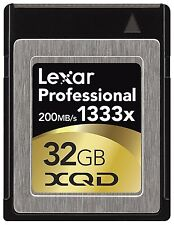 Lexar 1333x 32GB XQD 2.0 Memory Card For 4K Camera DSLR LXQD32GCRBNA1333 200MB/s