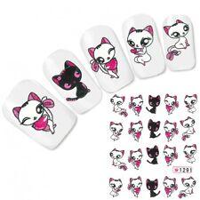 Nagel Sticker Aufkleber Sweet Katze Cat Nail Art Nägel Fuß