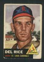 1953 Topps #68 Del Rice VG/VGEX Cardinals 87199