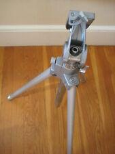 vtg metal camera TRIPOD video movie film retro aluminum stand bakelite handle ?