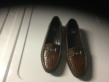 SAS Brown  Patent LOAFERS  SIZE 9W. USA MADE