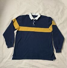 New listing GAP  Long Sleeve Polo Varsity Multicolor Rugby Jersey XL Navy & Yellow Vintage