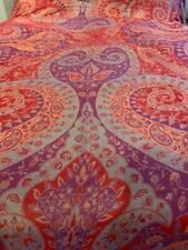 Indian Pashmina-Silk Bed Covering 10'x8' Red