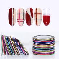 10Pcs Nail Striping Tape Line Self Adhesive Decal Holographics Nail Art Stickers