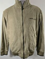 Sir Benni Miles NYC full zip spellout embroidered beige jacket streetwear Large